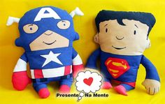 Super fofos, esses bonecos em tecido com impressão  caracterizada de seu super heroi preferido, consulte outros.fabricamos personalizados seu ator, jogador, artista ou pessoa.Mande email para nós R$80,00