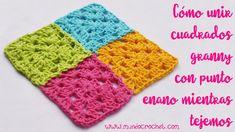 Cómo unir cuadrados granny con punto enano mientras tejemos Crochet Granny, Blanket, Knitting, Crocheting, Tumblr, Carnival, Scrappy Quilts, World, Joy