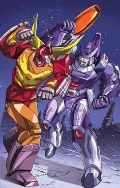 Rodimus Prime vs.Galvatron by Dan-the-artguy.deviantart.com on @deviantART
