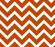 orange chevron large scale fabric by amybethunephotography on Spoonflower - custom fabric