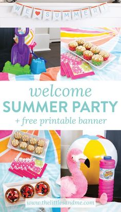 Say hello to summer with a fun and simple Welcome Summer Party. Tips and tricks to surprise your kiddos plus a FREE printable We Love Summer Banner!