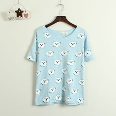 """Top Cute Kawaii Sweet Fashion Clothing & Accessories Online Store.   Coupon """"cutekawaii"""" for all 10% off.   Via:http://cuteharajuku.storenvy.com Fabric: Cotton Style: Sweet Color: gray,pink,blue Length: 60cm/23.62"""" Shoulder: 52cm/20.47"""" Bust: 113cm/44.48""""  Tips: *Please double check above size and consider your measurements before ordering, thank you ^_^  Visiting Store: Http://cuteharajuku.storenvy.com  Find more cute fashio..."""