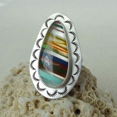 Handstamped surfite ring, size 7 1/2, just listed!