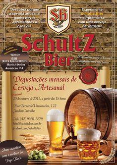 Cartaz para evento Schultz Bier.