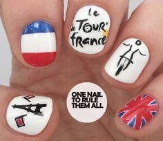 One Nail To Rule Them All: Tour De France Nail Art for Avon
