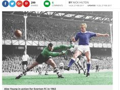 Alex young.  The original,  'Float like a Butterfly, sting like a bee'. Although I have always been a Liverpool supporter  ( not Fanatical). In the 1960s I went to most of Everton's home games with my blue blood friends, mainly to watch the genius of Alex Young, 'the Golden Vision'.  R,I,P.