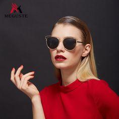 $9.53 (Buy here: https://alitems.com/g/1e8d114494ebda23ff8b16525dc3e8/?i=5&ulp=https%3A%2F%2Fwww.aliexpress.com%2Fitem%2FMeguste-2016-cat-eye-women-sunglasses-brand-designer-pink-mirror-lens-outdoor-luxury-sunglasses-UV400-metal%2F32724052941.html ) Meguste outdoor luxury double metal frame cat eye so real women sunglasses brand designer.grey lens Oculos De Sol Feminino uv400 for just $9.53