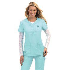 8db5bfe41d6 Goes great with the Lindsey scrub pants. Koi Scrubs Women's Josie Scrub Top  Koi Scrubs