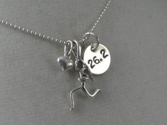 18 inch Sterling Silver GIRLS LOVE to RUN 262  by TheRunHome, $33.00