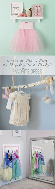 Six Pinterest-Worthy Ways to Display Your Child's Favorite Dress, from the cuteheads blog, http://blog.cuteheads.com