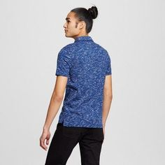 Men's Polo Shirt - Mossimo Supply Co. Blue L, Durable