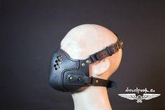 CYBERPUNK MASK leather hand made steampunk mask Halloween apocalypse gas mask gear by SteampunkMasks on Etsy