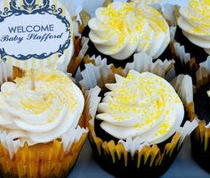 Bump Smitten: Real Baby Shower: Yellow & Grey Vintage
