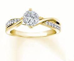 hermoso anillo de compromiso en plata con oro de 24k, regalo