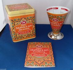 TALA RETRO VINTAGE MOROCCAN TAGINE NORTH AFRICAN COOKS MEASURE STORAGE RECIPE