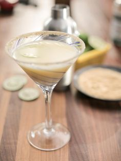 Key Lime pie Martini; everyone on Valerie's show said it tasted just like the pie...need to try!