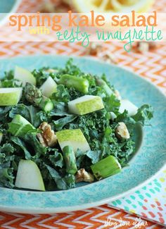 Spring Kale Salad with Zesty Vinaigrette