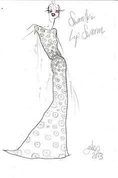 Giles Deacon Sketch