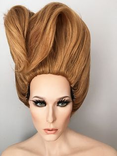 Drag queen, pageant ready, wig, updo