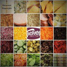 Ingredientes frescos e higienizados. Tudo  de altíssima qualidade para deixar o seu Sanduba delicioso.