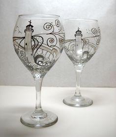 Wine Glass Painting Designs   Роспись бокалов своими руками: 10 ...