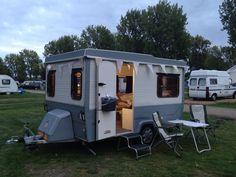 Esterel Supermatic Folding Camper with modern paint job.