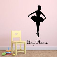 Personalized Name Ballerina Dance Vinyl Wall Stickers For Kids Rooms Girls Bedroom Wall Art Decals Wall Decorations Living Room-in Wall Stickers from Home & Garden on Aliexpress.com | Alibaba Group