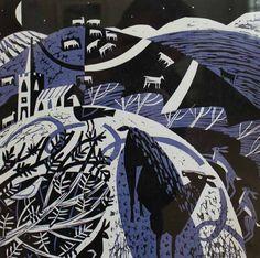 'Black Sheep' by British artist printmaker Mary Sumner Linocut, 300 x 300 mm. via Hybrid Gallery Painting Prints, Art Prints, Block Prints, Paintings, Pop Art, Street Art, Linoprint, Wood Engraving, Linocut Prints