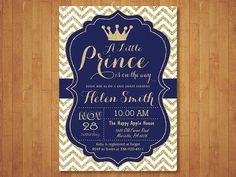 Invitación de la ducha de bebé de príncipe. por happyappleprinting