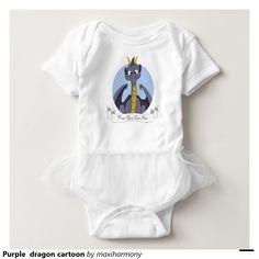 Purple  dragon cartoon tshirt