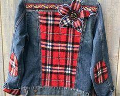 Embellished denim jean jacket Cherries and Hearts Boho Patched Jeans, Denim Jeans, Embellished Jeans, Embellished Jackets, Embroidered Jeans, Colored Denim, Boho Fashion, Jean Jackets, Denim Jackets