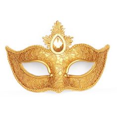 Antique Gold Masquerade Mask Covered With Lace - Venetian Style Mardi Gras Mask - Special For Valentine's Day Masquerade Ball