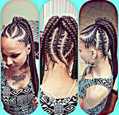 Natural hair styles. Protective styles. Big braids. Chunky braids ...