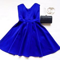 Royal blue dress Look regal in this gorgeous royal blue dress with sweetheart neckline, A-line full skirt & zipper at the back. NWOT. Dresses