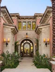 'Floridian/Mizner influenced Spanish style residence.' South Coast Architects, Inc., Newport Beach, CA.