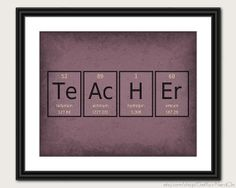 Periodic Table Word Poster Teacher Wall Art от GetYourNerdOn, $20.00
