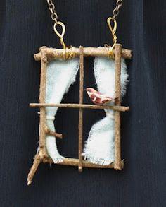 hearts and honey: DIY Window Necklace/// or a hanging window for a fairy garden! - hearts and honey: DIY Window Necklace/// or a hanging window for a fairy garden! Fairy Village, Fairy Tree, Fairy Garden Furniture, Fairy Crafts, Fairy Garden Houses, Fairies Garden, Fairy Garden Accessories, Fairy Doors, Miniature Fairy Gardens