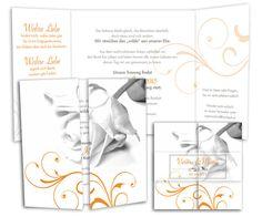 Hochzeitseinladungskarten - Rosenglück - Altarfalz
