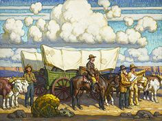 Art inspiration (wagon trains): Distant Road by Tim Solliday