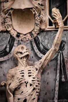 """Transi de René de Chalons"" by Ligier Richier, in the church of Saint Etienne in Bar-le-Duc, France."