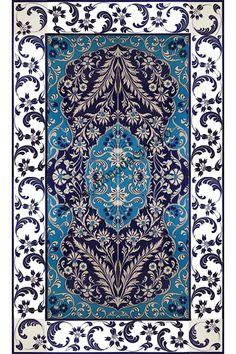 80*160 Güvercin Kuş Desenli El Yapımı 835 Çini Pano - Armada Çini Turkish Tiles, Turkish Art, Tile Murals, Tile Art, Islamic Patterns, Rug Texture, Iranian Art, Stone Mosaic, Stained Glass Patterns