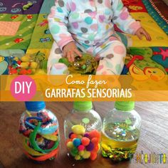 Garrafas sensoriais _default Toddler Play, Baby Play, Baby Kids, Baby Sensory Classes, Baby Boom, Infant Activities, Baby Hacks, Kids Learning, Nursery