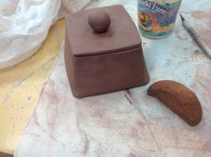 Finished making the lid to the box, now I just need to sponge it and put it in the kiln.