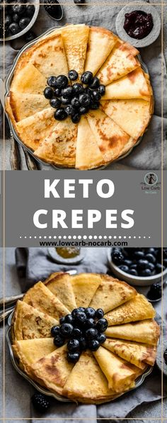 Low Carb Keto Crepes are the best invention so far in our kitchen. It is eaten every time I make some. And it is a must after dinner deserts replacements. Low Carb Quiche, Low Carb Pancakes, Low Carb Breakfast, Healthy Breakfast Recipes, Breakfast Crepes, Diabetic Breakfast, Healthy Food, Healthy Eating, Yummy Food