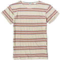 Levi's Vintage 1930s Bay Meadows Tee (Multi Colour Linen Stripe)