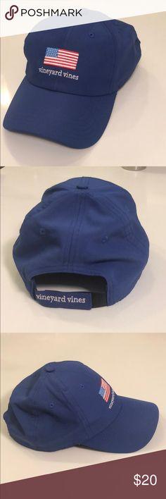 d0b54701943 USA Dri-fit VV Hat Vineyard Vines! Blue Dri-fit material American flag