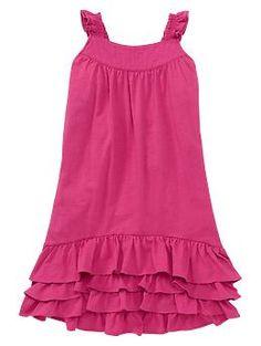 Ruffled trim dress | Gap