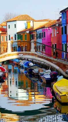 So much color in Burano, Veneto, Italia Places Around The World, Oh The Places You'll Go, Places To Travel, Places To Visit, Around The Worlds, Beautiful World, Beautiful Places, Voyage Europe, Belle Photo