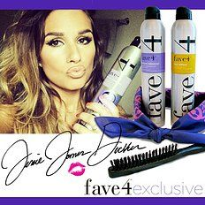 Love this girl's hair!! Jessie James Decker limited edition kittenish hair kit with Texture Takeover and Flex Reflect hairspray.