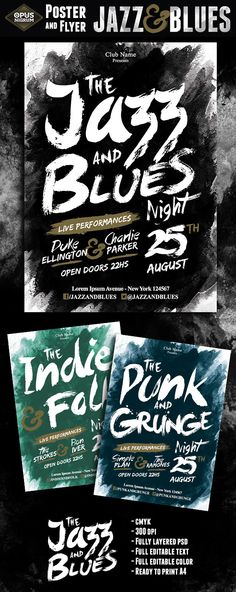 The Jazz and Blues Night on Behance
